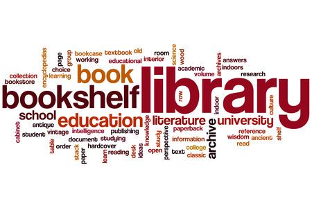 biblioteca: Palabra Biblioteca concepto de nube