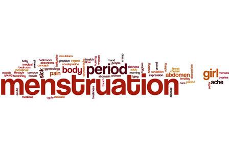 menstruacion: La menstruaci�n concepto de nube de palabras