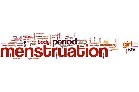 menstruation: Menstruation word cloud concept Stock Photo
