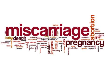 poronienie: Poronienie Koncepcja cloud słowo