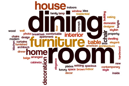 Dining room word cloud concept photo