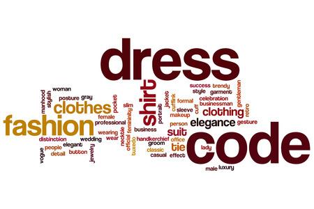 dress code: Dress code word cloud concept Stock Photo