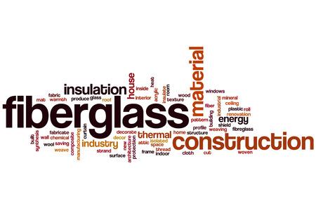 fiberglass: Palabra de fibra de vidrio concepto de nube