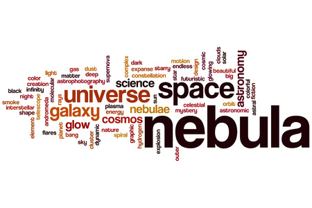 Nebula word cloud concept photo