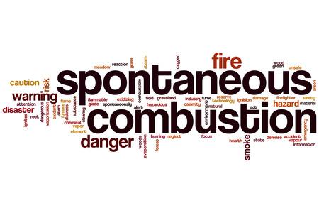 spontaneous: Spontaneous combustion word cloud concept
