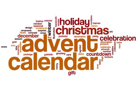 advent calendar: Advent calendar word cloud concept