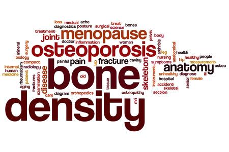 density: Bone density word cloud concept Stock Photo