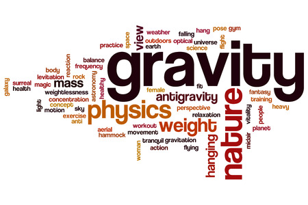 gravity: Gravity word cloud concept Stock Photo