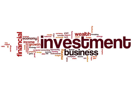 return on investment: Investment word cloud concept Stock Photo