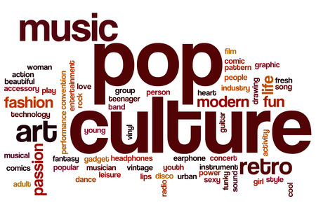 Pop culture word cloud concept