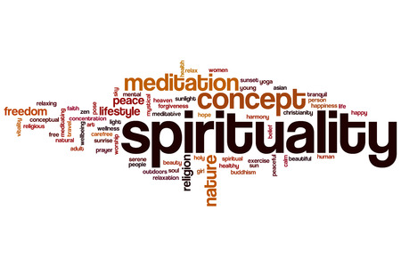 spiritual: Spirituality word cloud concept