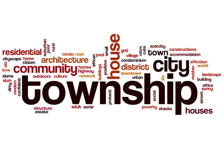 township: Township word cloud concept Stock Photo