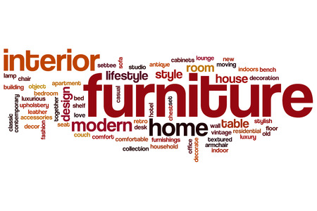 Furniture word cloud concept