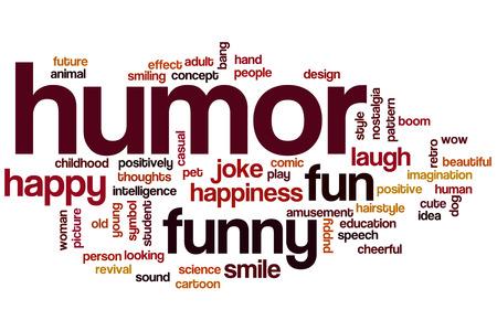 humor: Humor word cloud concept Stock Photo