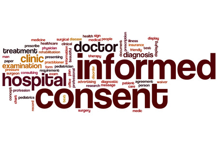 consent: Informed consent word cloud concept