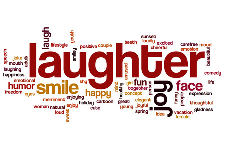 laughter: Laughter word cloud concept