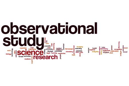 observational: Estudio observacional concepto de nube de palabras