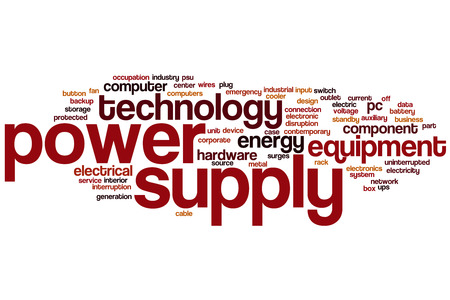 uninterrupted: Power supply word cloud concept