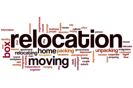 relocating: Relocation word cloud concept