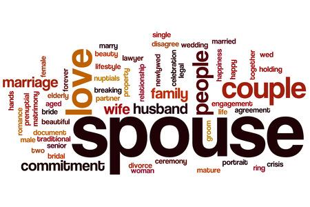 spouse: Spouse word cloud concept Stock Photo