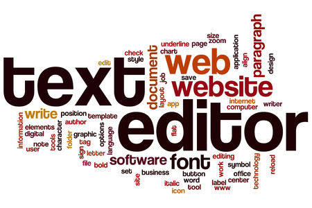 editor: Text editor word cloud concept
