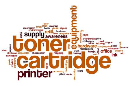 toner: Toner cartridge word cloud concept