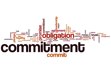 commitment committed: Commitment word cloud concept