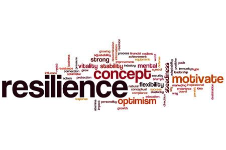 elasticidad: Resiliencia concepto de nube de palabras