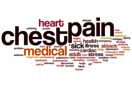Chest pain word cloud concept photo