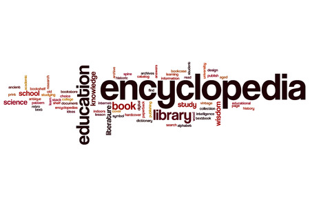 Encyclopedia word cloud concept
