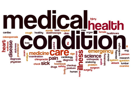 medical condition: Medical condition word cloud concept Stock Photo
