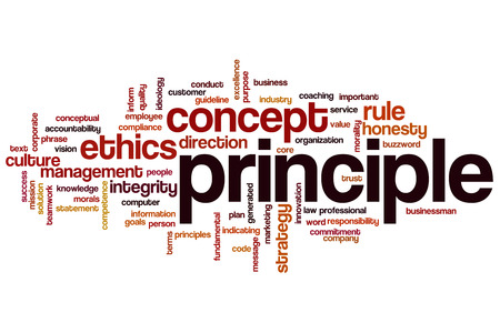 ethics and morals: Principle word cloud concept