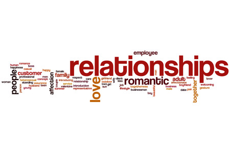 Relationships word cloud concept