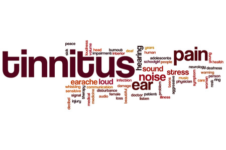 decibel: Tinnitus word cloud concept