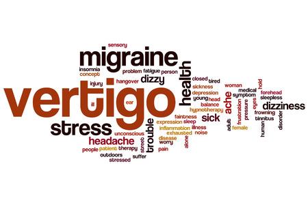 vertigo: Vertigo word cloud concept