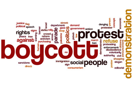 activism: Demonstration word cloud concept with politics activism related tags