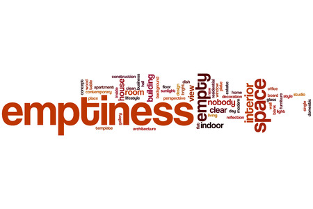 emptiness: Emptiness word cloud concept with space empty related tags