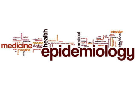 epidemiology: Epidemiology word cloud concept with medicine disease related tags