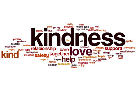 Kindness word cloud concept with love help related tags