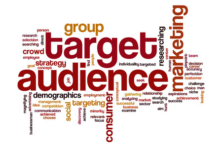 target: Target audience word cloud concept with business marketing related tags