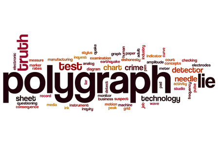detect: Polygraph word cloud concept with lie truth related tags