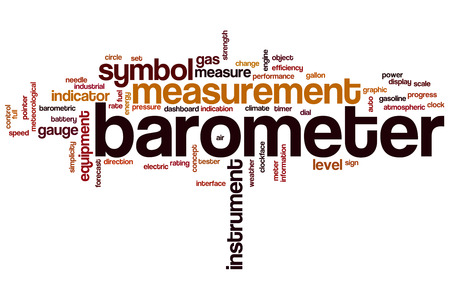 barometer: Barometer word cloud concept with instrument equipment related tags