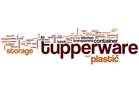 tupperware: Tupperware word cloud concept with plastic storage related tags