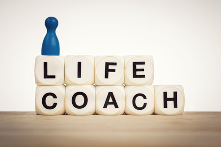 life coaching: Life coach concept - aim towards helping people identify and achieve personal goals