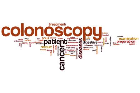 Colonoscopy word cloud concept photo