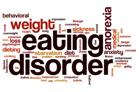 helplessness: Eating disorder word cloud concept