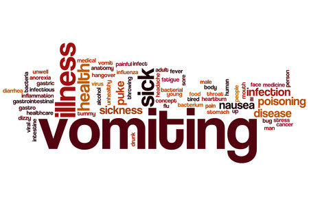 Vomiting word cloud concept photo