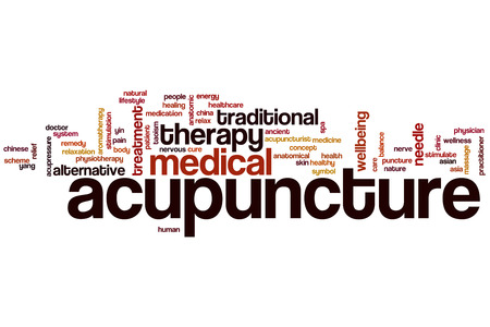 acupuncture needles: Acupuncture word cloud concept