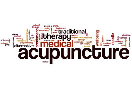 simbolo medicina: Acupuntura concepto de nube de palabras