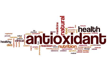 Antioxidant word cloud concept